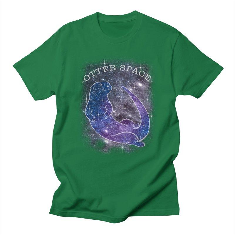 -SPACE OTTER1- Men's T-Shirt by Inkdwell's Artist Shop