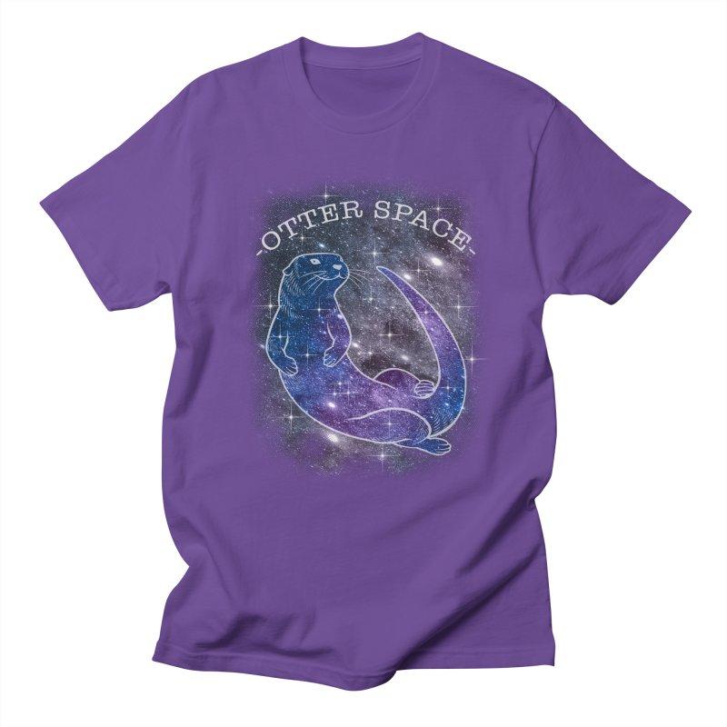 -SPACE OTTER1- Men's Regular T-Shirt by Inkdwell's Artist Shop