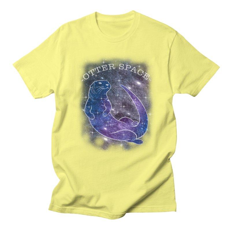 -SPACE OTTER1- Women's Unisex T-Shirt by Inkdwell's Artist Shop