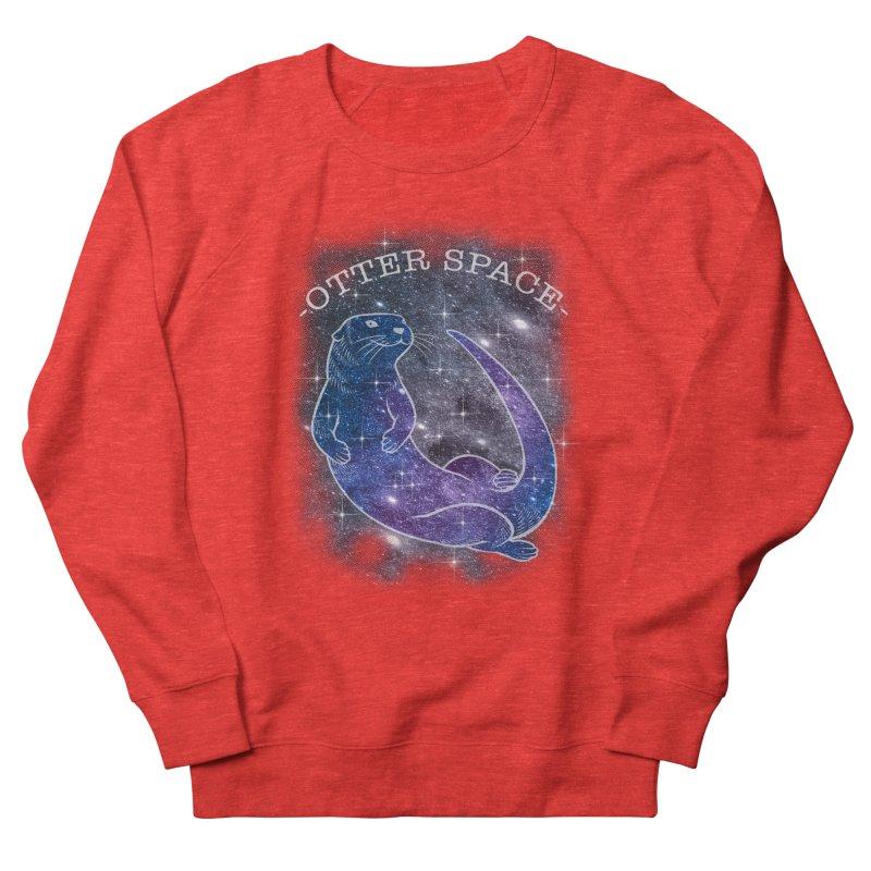 -SPACE OTTER1- Women's Sweatshirt by Inkdwell's Artist Shop