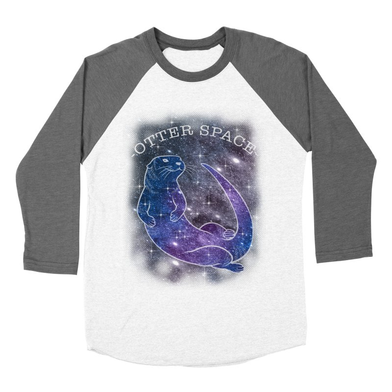 -SPACE OTTER1- Women's Baseball Triblend T-Shirt by Inkdwell's Artist Shop