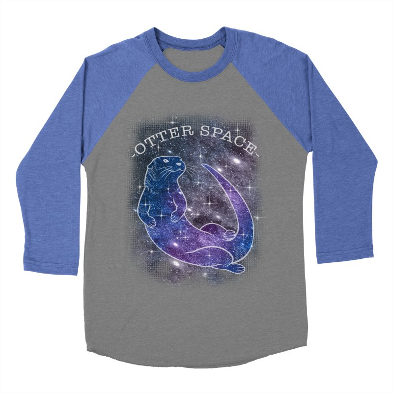 -SPACE OTTER1- Men's Baseball Triblend Longsleeve T-Shirt by Inkdwell's Artist Shop
