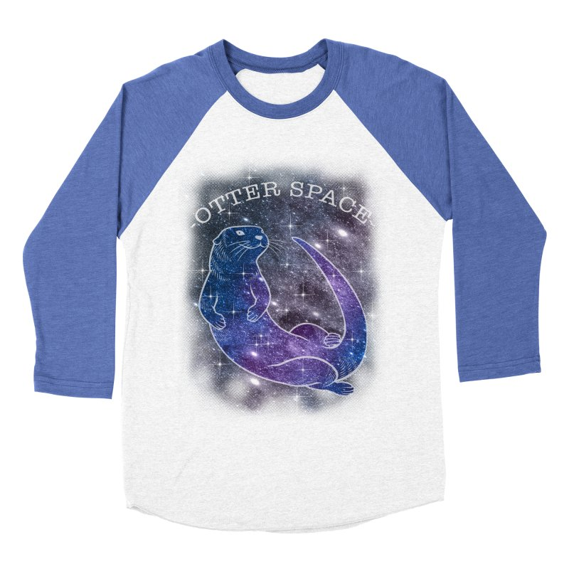 -SPACE OTTER1- Men's Baseball Triblend Longsleeve T-Shirt by Inkdwell's Artist Shop