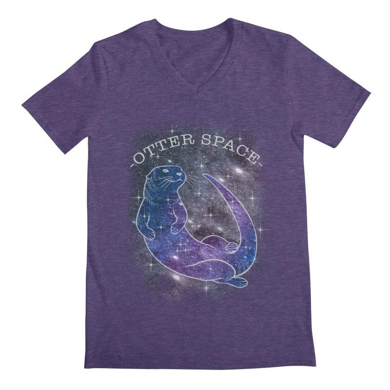 -SPACE OTTER1- Men's Regular V-Neck by Inkdwell's Artist Shop