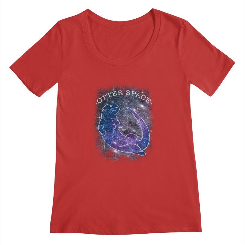 -SPACE OTTER1- Women's Regular Scoop Neck by Inkdwell's Artist Shop