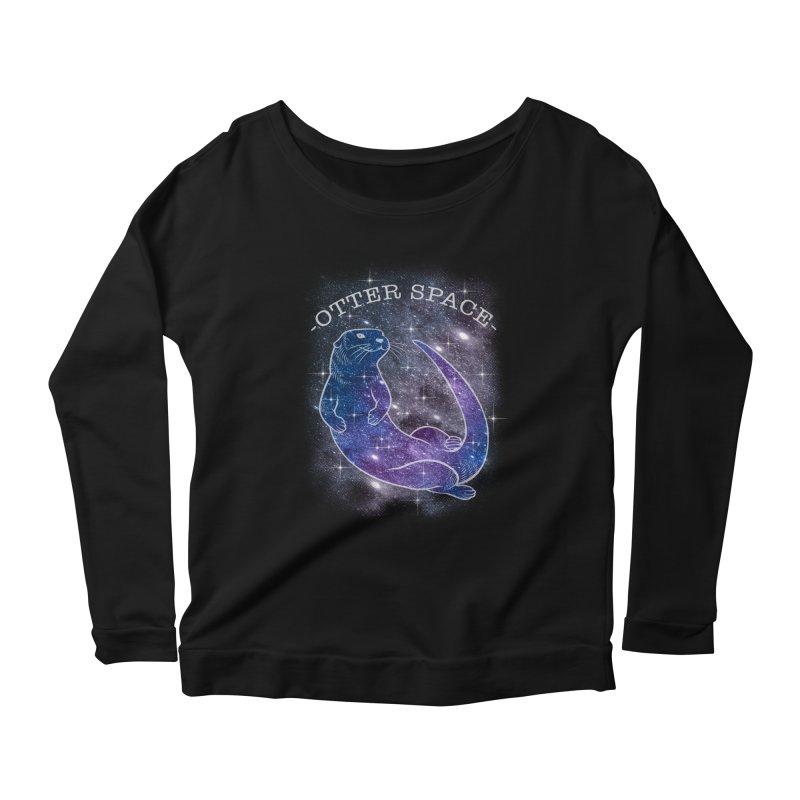 -SPACE OTTER1- Women's Longsleeve T-Shirt by Inkdwell's Artist Shop