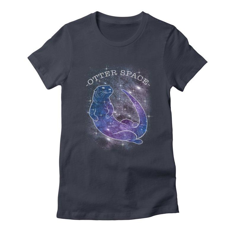 -SPACE OTTER1- Women's T-Shirt by Inkdwell's Artist Shop