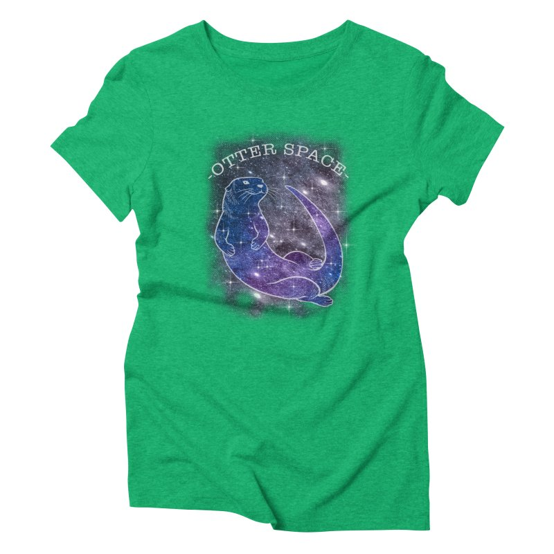 -SPACE OTTER1- Women's Triblend T-Shirt by Inkdwell's Artist Shop