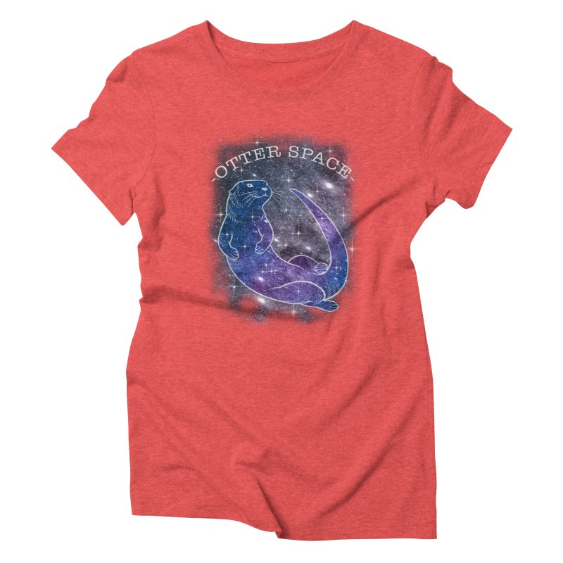 -SPACE OTTER1- Women's Triblend T-Shirt by Inkdwell's Artist Shop