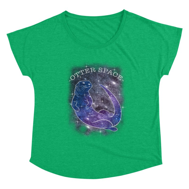-SPACE OTTER1- Women's Scoop Neck by Inkdwell's Artist Shop
