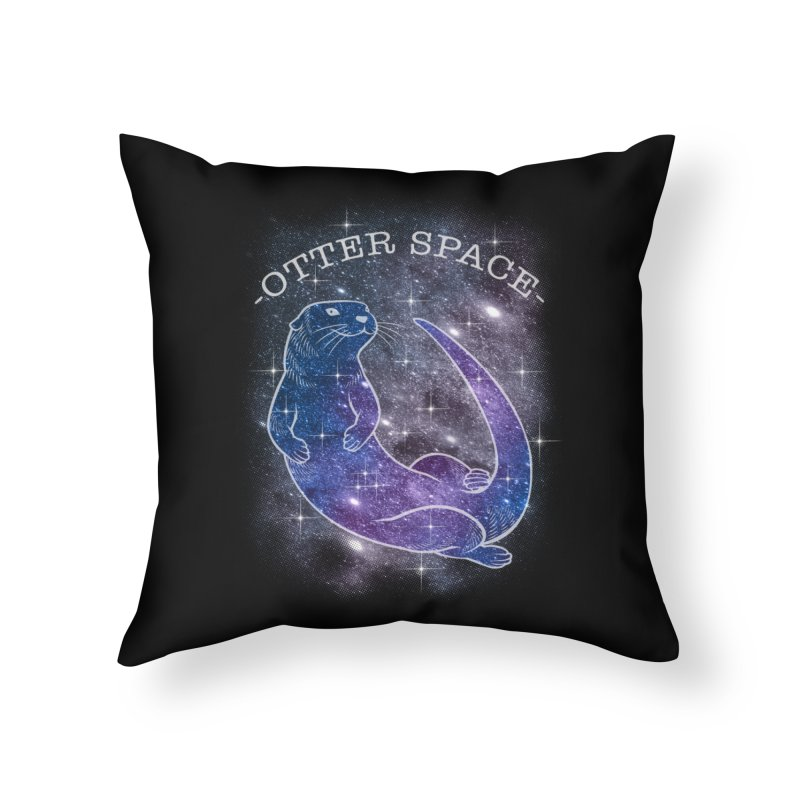 -SPACE OTTER1- Home Throw Pillow by Inkdwell's Artist Shop