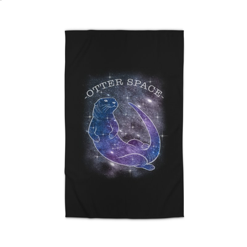 -SPACE OTTER1- Home Rug by Inkdwell's Artist Shop
