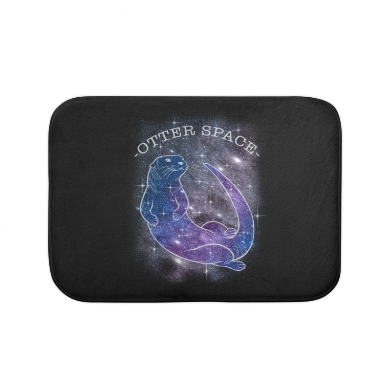 -SPACE OTTER1- Home Bath Mat by Inkdwell's Artist Shop