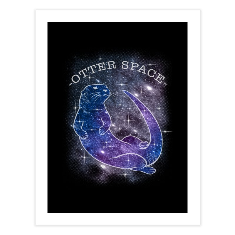 -SPACE OTTER1- Home Fine Art Print by Inkdwell's Artist Shop