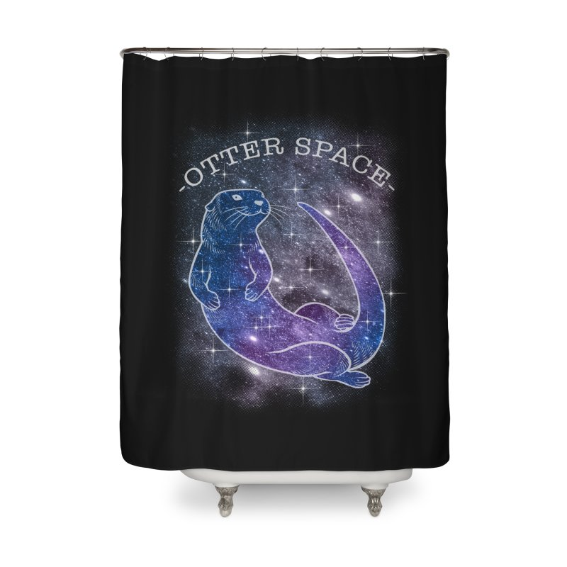 -SPACE OTTER1- Home Shower Curtain by Inkdwell's Artist Shop