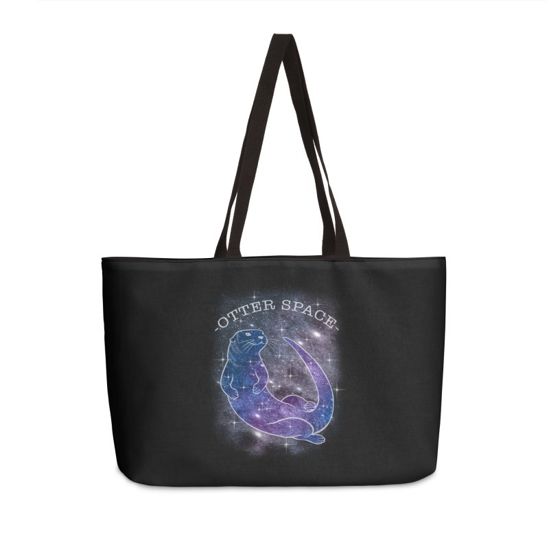 -SPACE OTTER1- Accessories Weekender Bag Bag by Inkdwell's Artist Shop