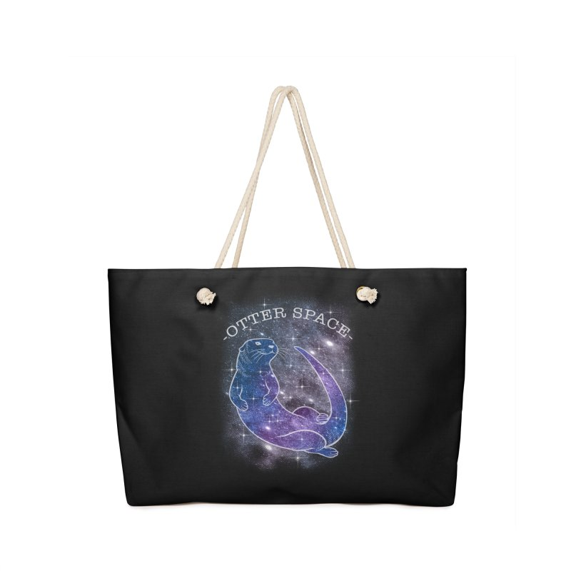 -SPACE OTTER1- Accessories Bag by Inkdwell's Artist Shop