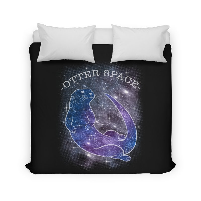 -SPACE OTTER1- Home Duvet by Inkdwell's Artist Shop