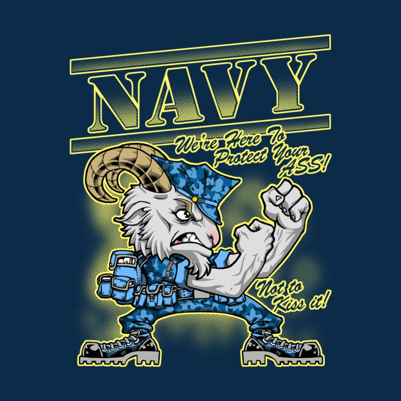 NAVY GOAT! Women's Zip-Up Hoody by Inkdwell's Artist Shop