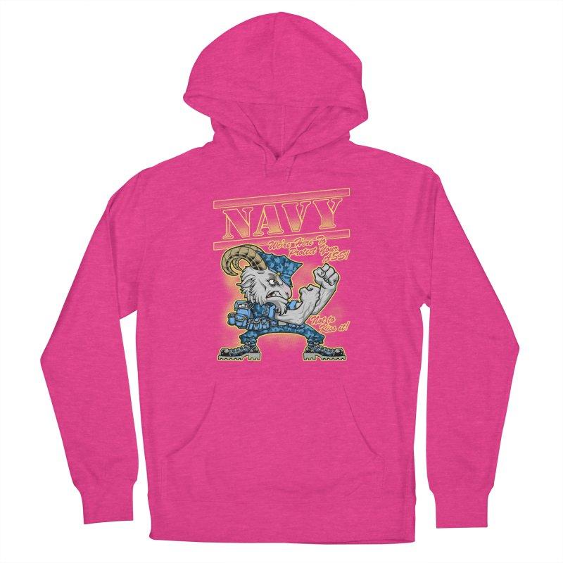 NAVY GOAT! Women's Pullover Hoody by Inkdwell's Artist Shop