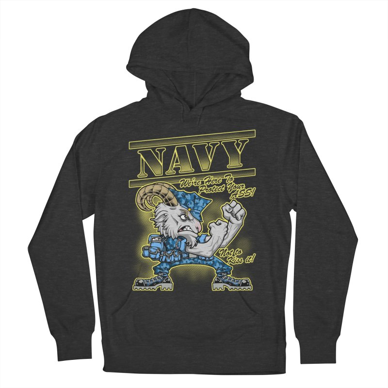 NAVY GOAT! Women's Pullover Hoody by Inkdwell's Artist Shop