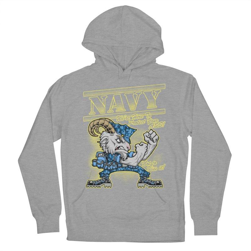 NAVY GOAT! Men's Pullover Hoody by Inkdwell's Artist Shop