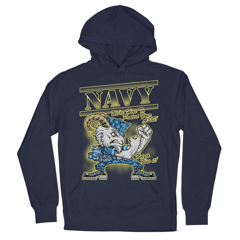 NAVY GOAT! Men's Pullover Hoody by Inkdwell's Artist Shop