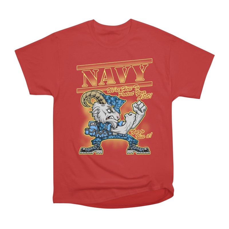 NAVY GOAT! Men's T-Shirt by Inkdwell's Artist Shop
