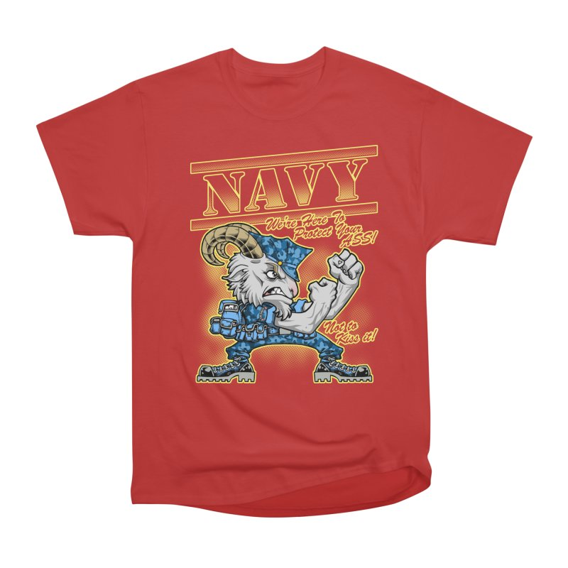 NAVY GOAT! Women's Heavyweight Unisex T-Shirt by Inkdwell's Artist Shop