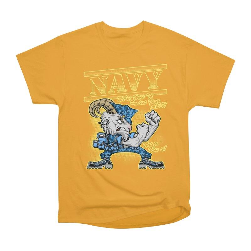 NAVY GOAT! Men's Heavyweight T-Shirt by Inkdwell's Artist Shop