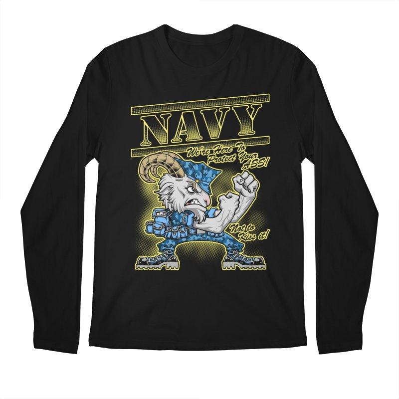 NAVY GOAT! Men's Regular Longsleeve T-Shirt by Inkdwell's Artist Shop