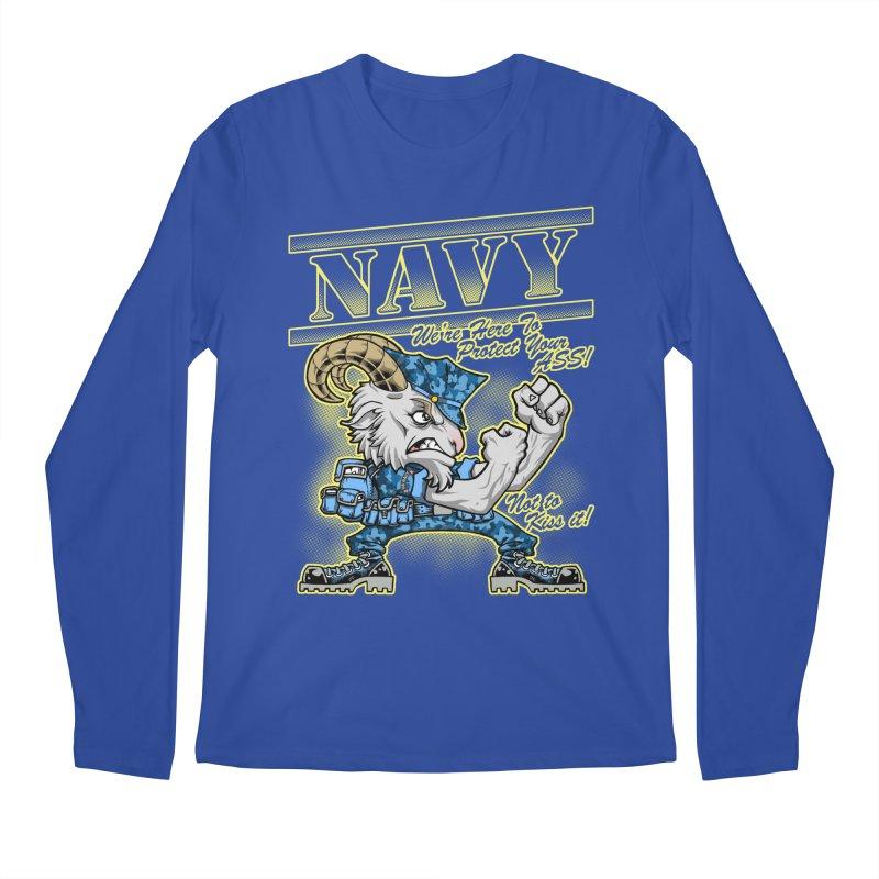 NAVY GOAT! Men's Longsleeve T-Shirt by Inkdwell's Artist Shop