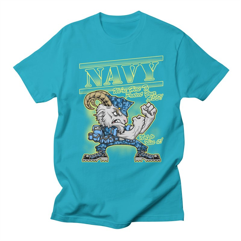 NAVY GOAT! Men's Regular T-Shirt by Inkdwell's Artist Shop