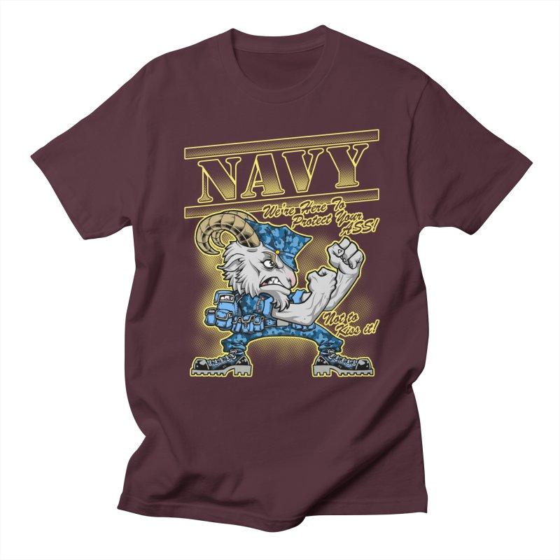 NAVY GOAT! Women's Unisex T-Shirt by Inkdwell's Artist Shop