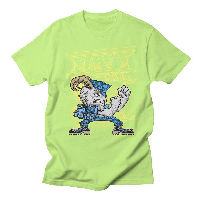 NAVY GOAT! Men's Regular T-Shirt by Inkdwell's Artist Shop
