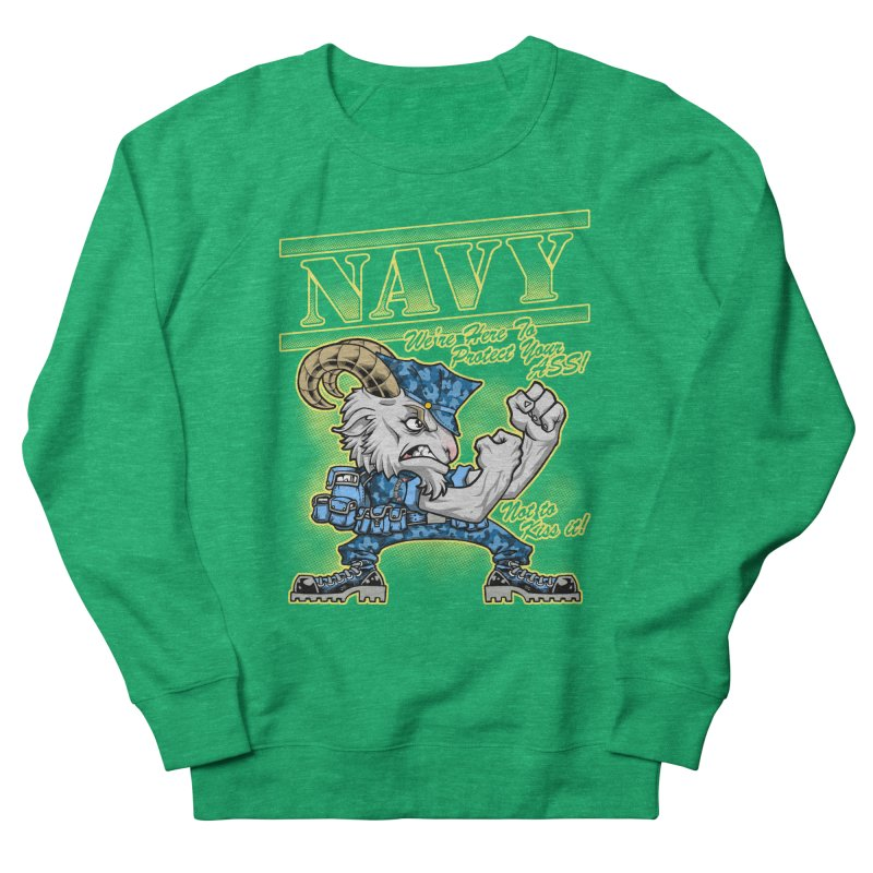 NAVY GOAT! Women's French Terry Sweatshirt by Inkdwell's Artist Shop