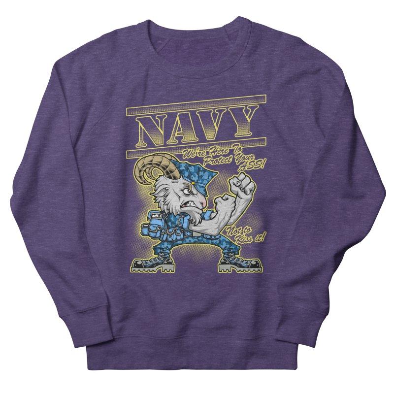 NAVY GOAT! Women's Sweatshirt by Inkdwell's Artist Shop