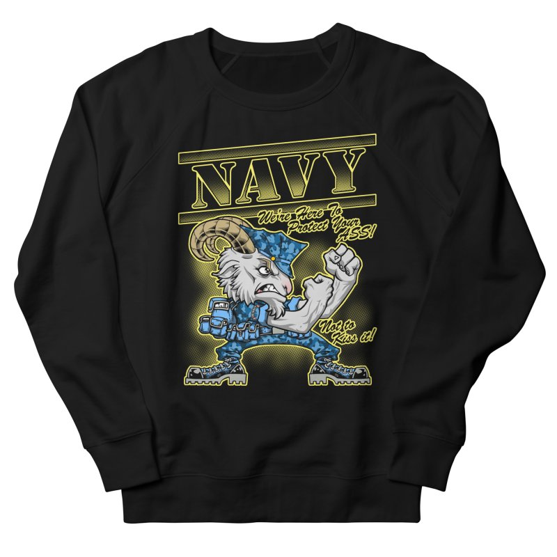 NAVY GOAT! Women's French Terry Sweatshirt by Inkdwell's Artist Shop