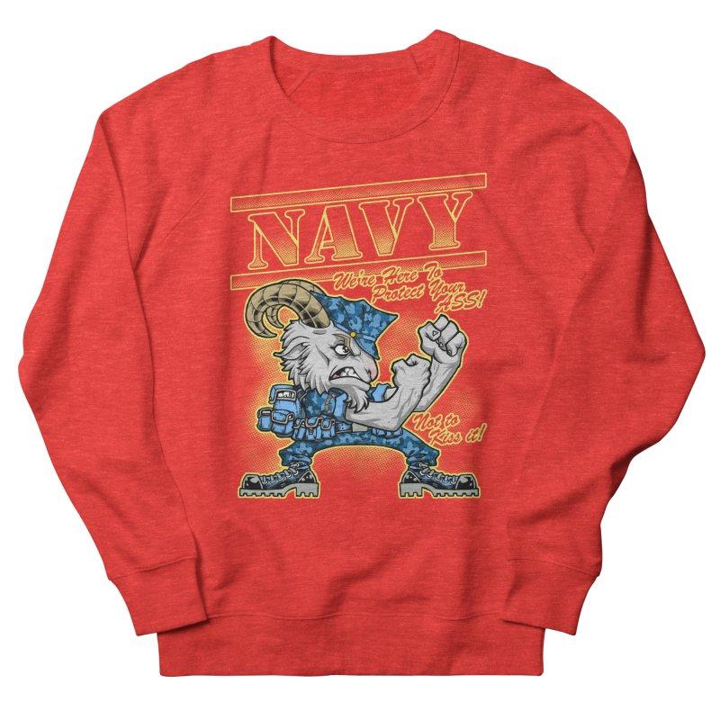 NAVY GOAT! Men's Sweatshirt by Inkdwell's Artist Shop