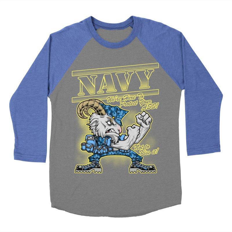 NAVY GOAT! Women's Baseball Triblend T-Shirt by Inkdwell's Artist Shop