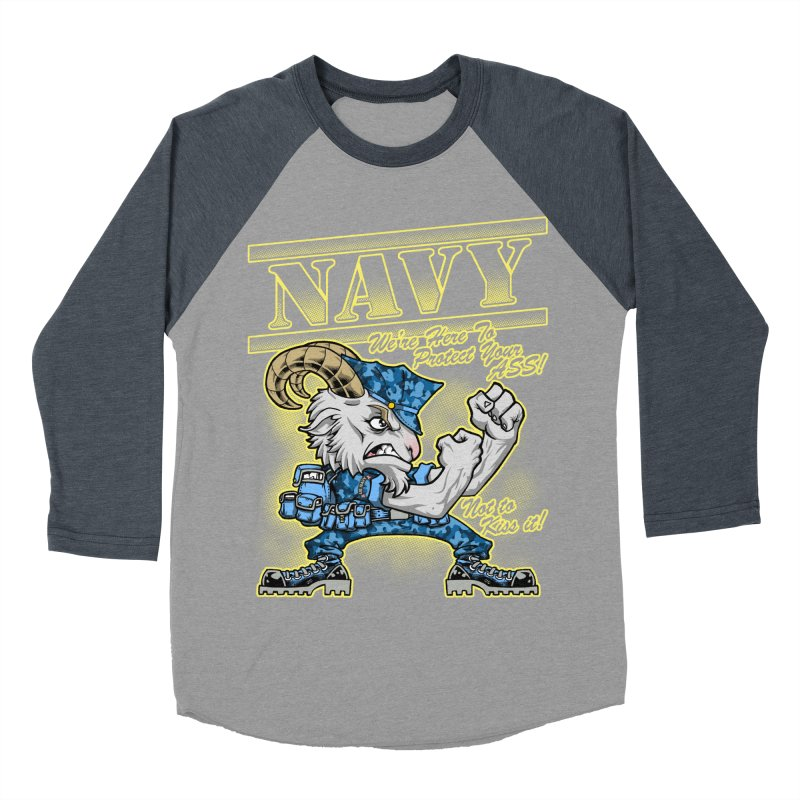 NAVY GOAT! Women's Baseball Triblend Longsleeve T-Shirt by Inkdwell's Artist Shop