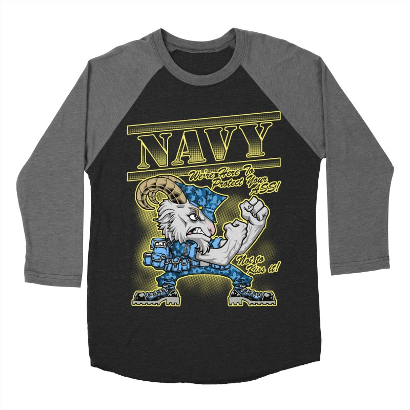 NAVY GOAT! Men's Baseball Triblend Longsleeve T-Shirt by Inkdwell's Artist Shop