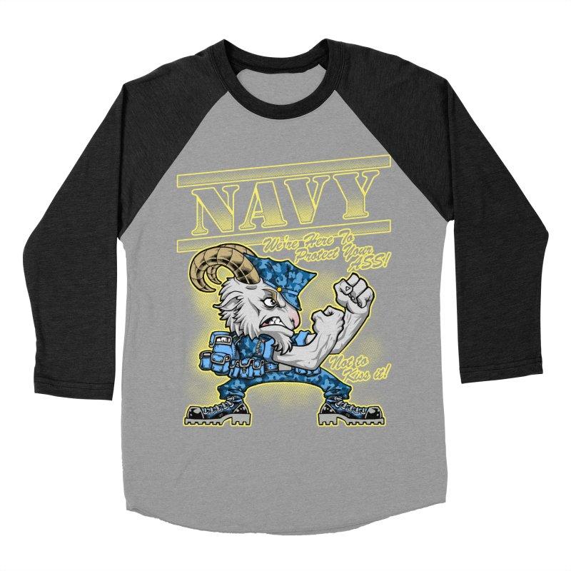NAVY GOAT! Men's Baseball Triblend T-Shirt by Inkdwell's Artist Shop