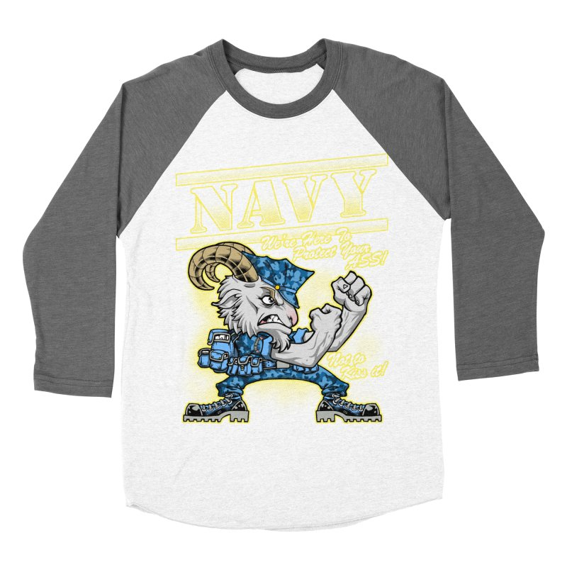 NAVY GOAT! Men's Baseball Triblend Longsleeve T-Shirt by Inkdwell's Artist Shop
