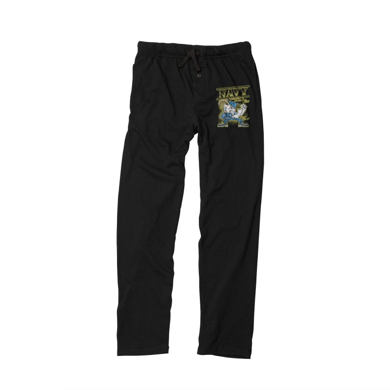NAVY GOAT! Men's Lounge Pants by Inkdwell's Artist Shop