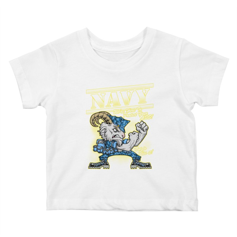 NAVY GOAT! Kids Baby T-Shirt by Inkdwell's Artist Shop