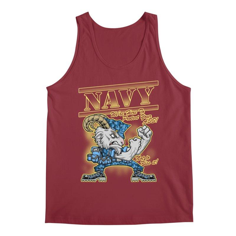 NAVY GOAT! Men's Regular Tank by Inkdwell's Artist Shop