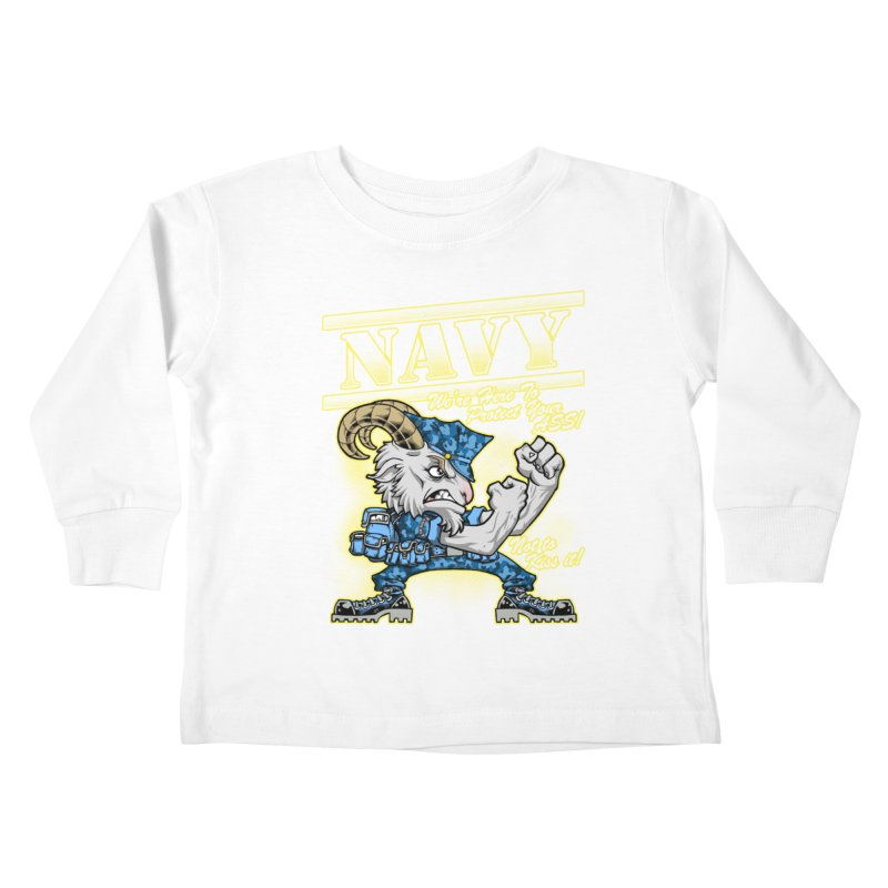 NAVY GOAT! Kids Toddler Longsleeve T-Shirt by Inkdwell's Artist Shop