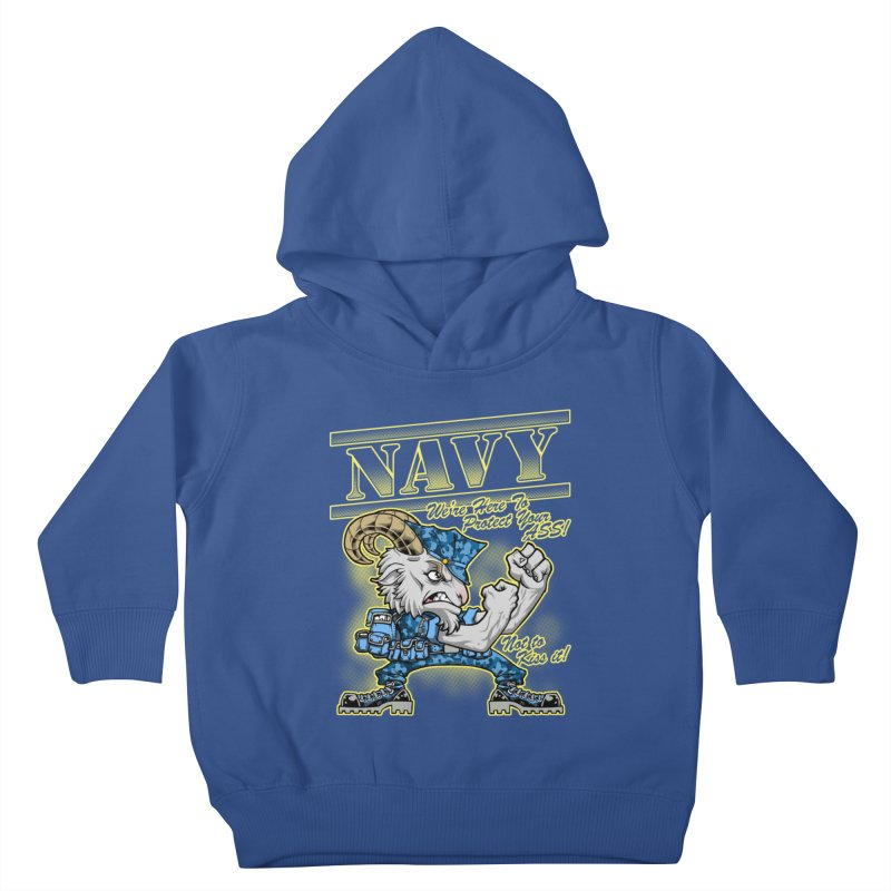 NAVY GOAT! Kids Toddler Pullover Hoody by Inkdwell's Artist Shop