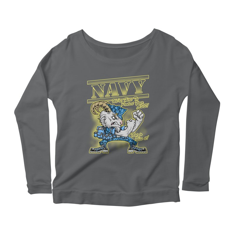 NAVY GOAT! Women's Longsleeve T-Shirt by Inkdwell's Artist Shop